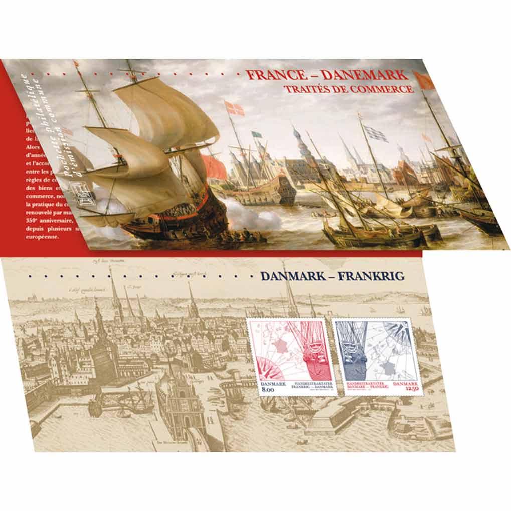 Pochette Traité de commerce France - Danemark