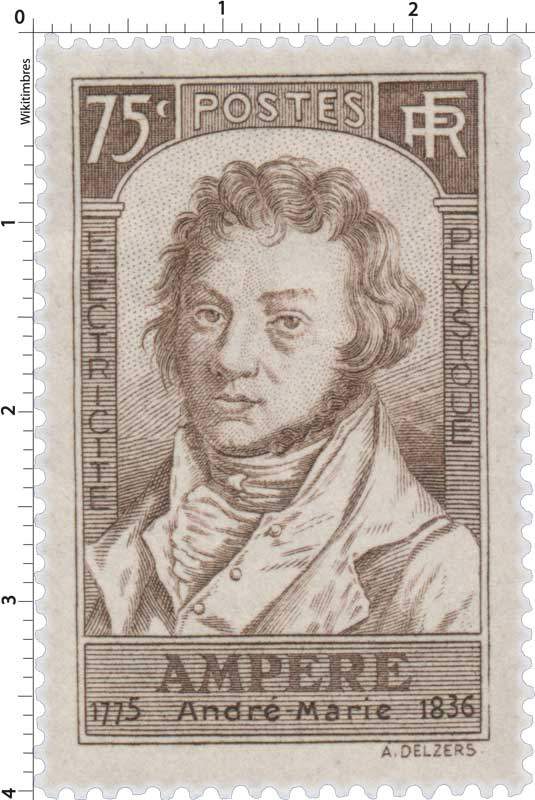 AMPÈRE André Marie 1775-1836 ÉLECTRICITÉ PHYSIQUE