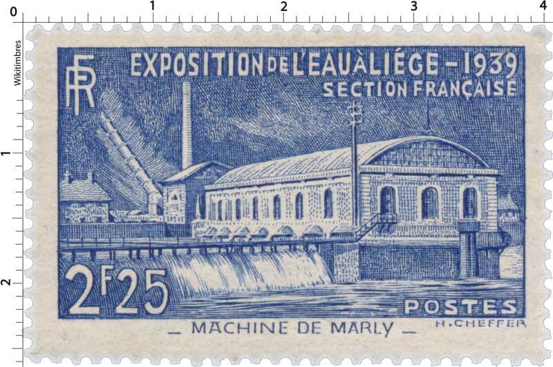 EXPOSITION DE L'EAU A LIÈGE - 1939 SECTION FRANÇAISE - MACHINE DE MARLY