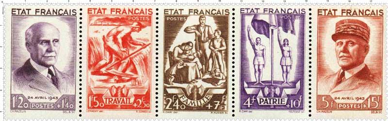 ÉTAT FRANÇAIS TRAVAIL FAMILLE PATRIE