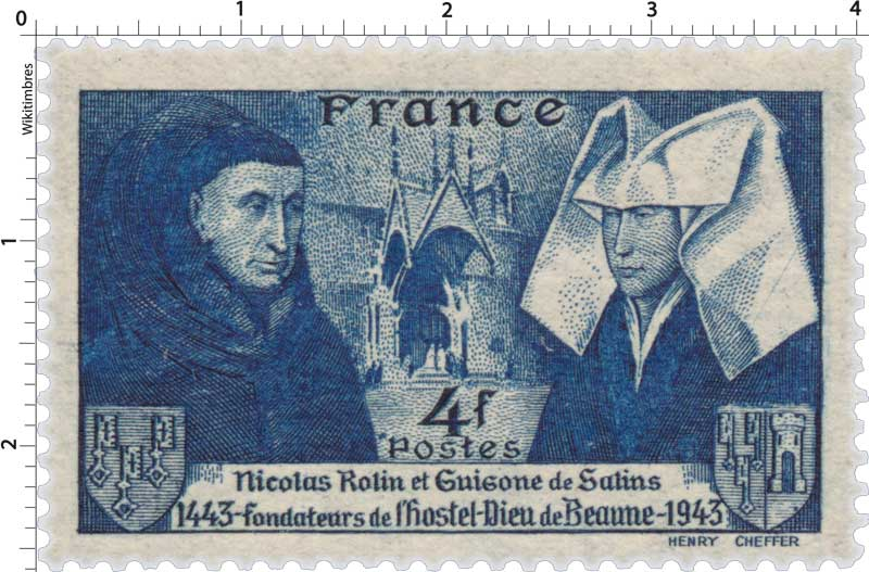 Nicolas Rolin et Guigone de Salins fondateurs de l'hostel-Dieu de Beaune 1443-1943