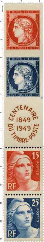 CENTENAIRE DU TIMBRE-POSTE 1849-1949