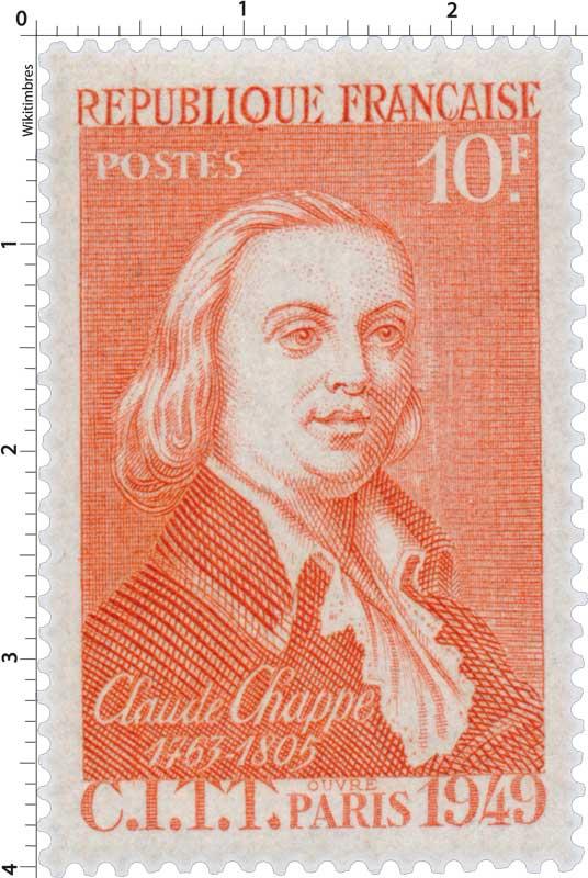 CLAUDE CHAPPE 1763-1805 C.I.T.T. PARIS 1949