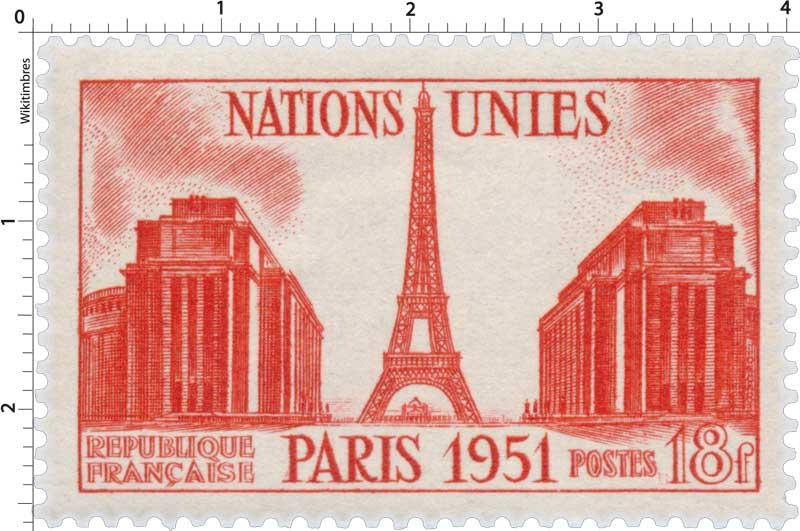 NATIONS UNIES PARIS 1951