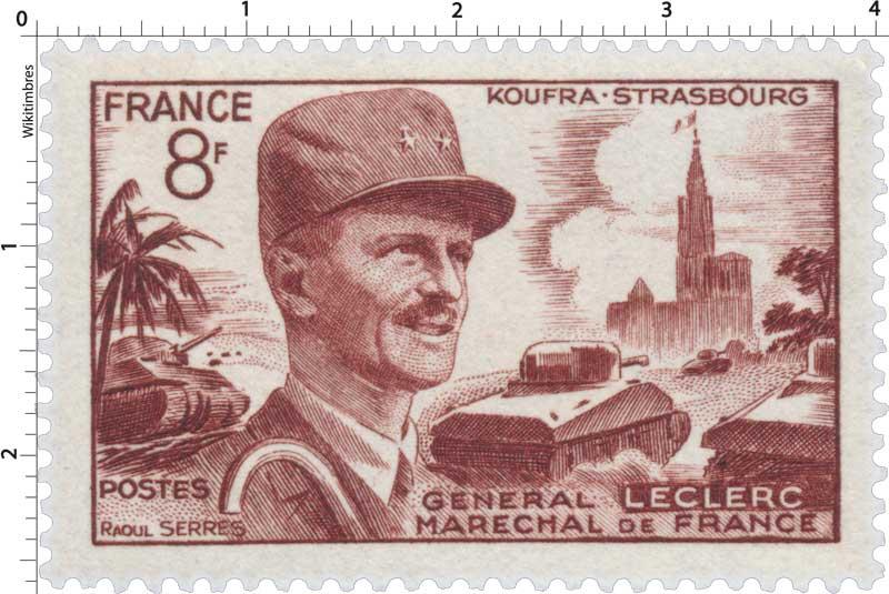 KOUFRA-STRASBOURG GENERAL LECLERC MARECHAL DE FRANCE