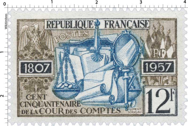 CENT CINQUANTENAIRE DE LA COUR DES COMPTES 1957