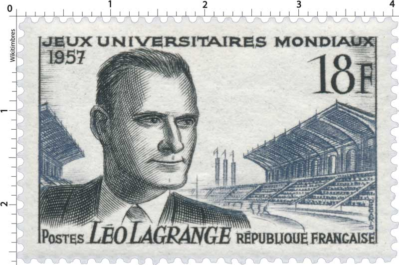 JEUX UNIVERSITAIRES MONDIAUX 1957 LÉO LAGRANGE