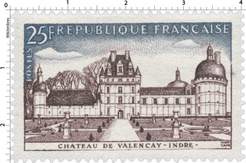 Timbre France Oblitere N° 1128 Chateau De Valencay Stamps Stamp