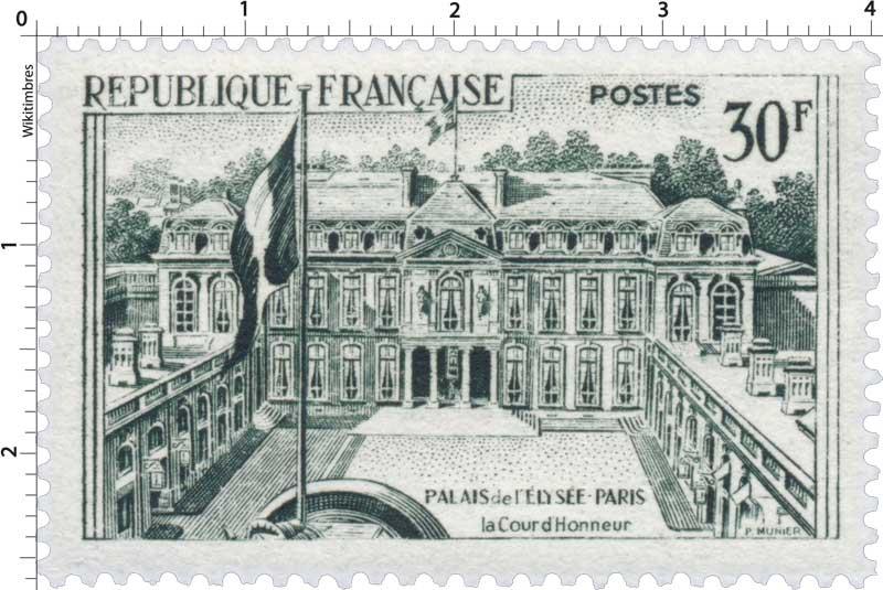 PALAIS de L'ÉLYSÉE - PARIS - La Cour d'Honneur
