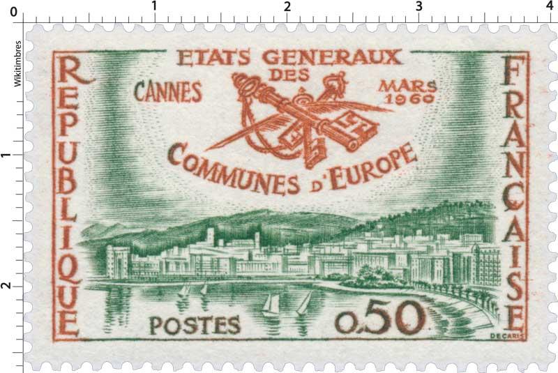 ÉTATS GÉNÉRAUX DES COMMUNES D'EUROPE CANNES MARS 1960
