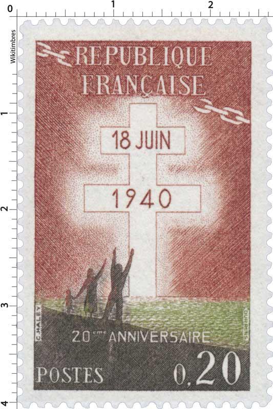 18 juin 1940 20ème ANNIVERSAIRE