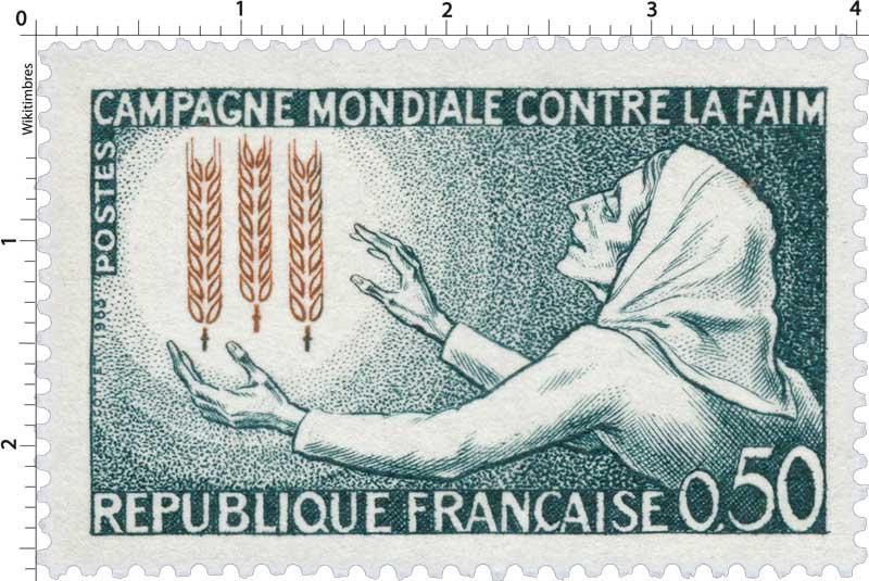1963 CAMPAGNE MONDIALE CONTRE LA FAIM