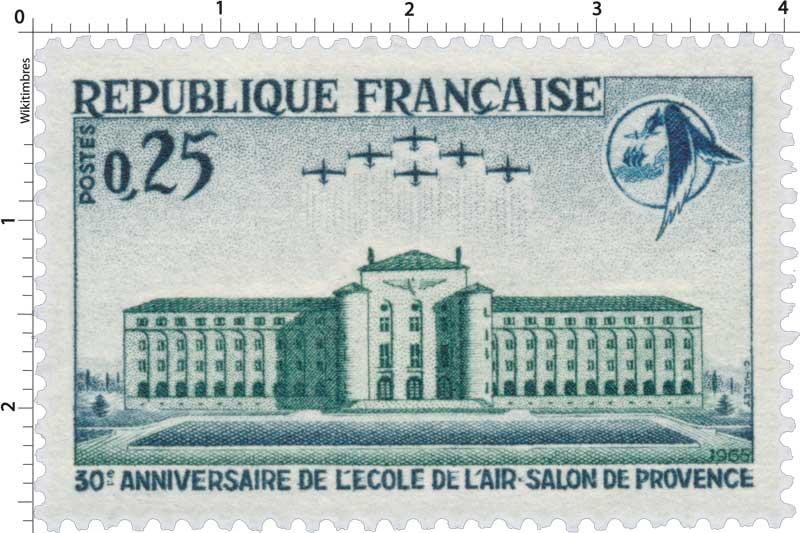 Timbre 1965 30e anniversaire de l 39 cole de l 39 air salon for Ecole militaire salon de provence