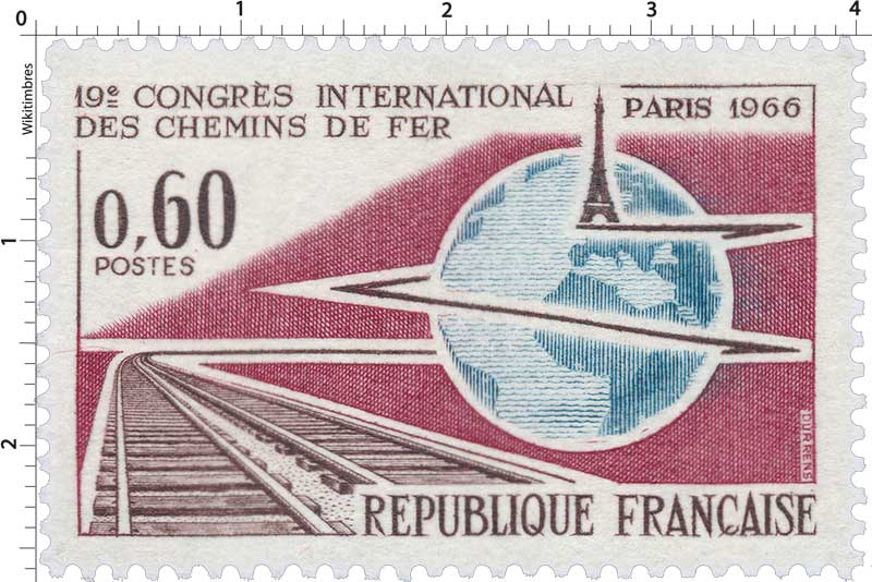 19e CONGRÈS INTERNATIONAL DES CHEMINS DE FER PARIS 1966