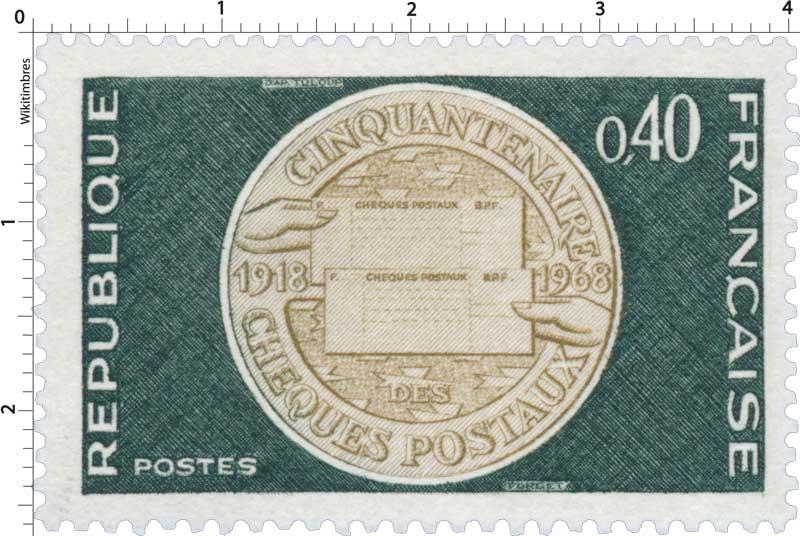 CINQUANTENAIRE CHÈQUES POSTAUX 1918-1968