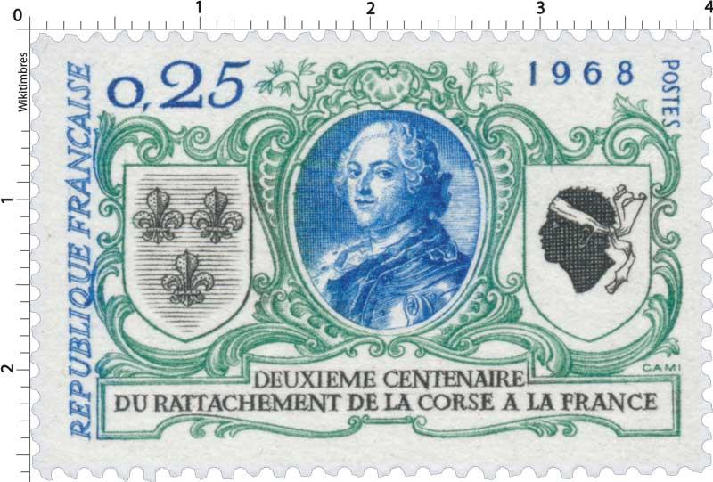 1968 DEUXIÈME CENTENAIRE DU RATTACHEMENT DE LA CORSE A LA FRANCE