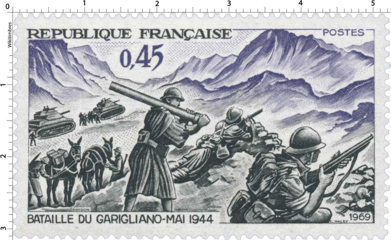 1969 BATAILLE DU GARIGLIANO-MAI 1944