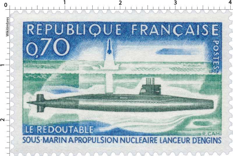1969 LE REDOUTABLE SOUS-MARIN A PROPULSION NUCLÉAIRE LANCEUR D'ENGINS