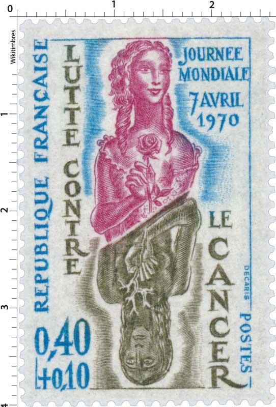 JOURNÉE MONDIALE 7 AVRIL 1970 LUTTE CONTRE LE CANCER
