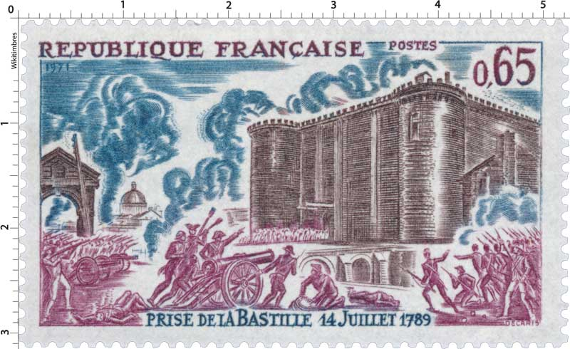 1971 PRISE DE LA BASTILLE 14 JUILLET 1789