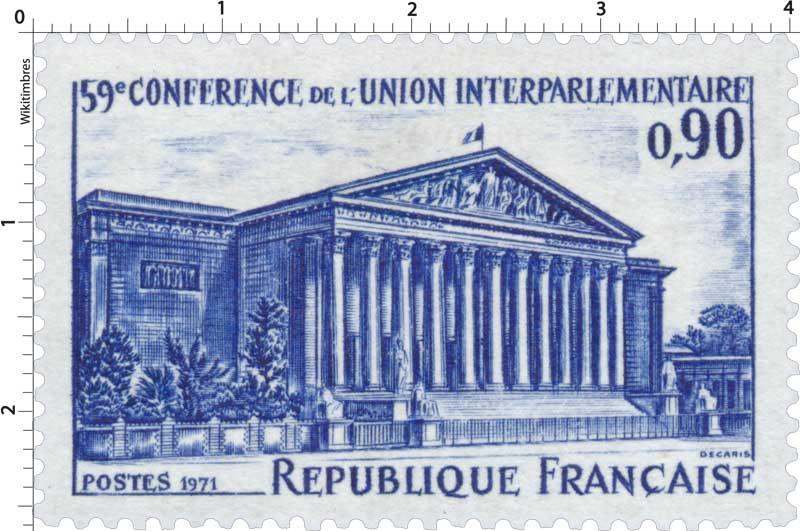 1971 59e CONFÉRENCE DE L'UNION INTERPARLEMENTAIRE
