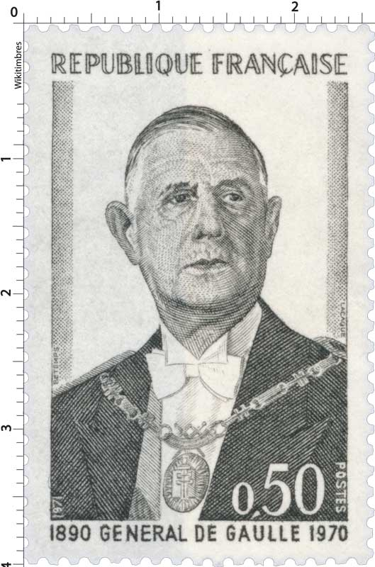 1971 GÉNÉRAL DE GAULLE 1890-1970