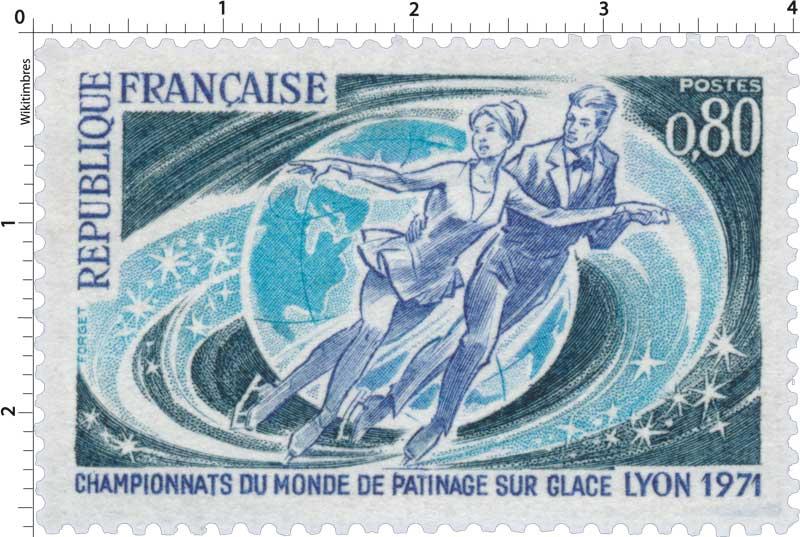 CHAMPIONNATS DU MONDE DE PATINAGE SUR GLACE LYON 1971