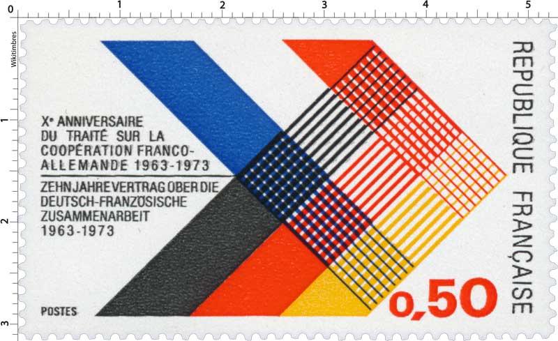 Xe ANNIVERSAIRE DE TRAITÉ SUR LA COOPÉRATION FRANCO-ALLEMANDE 1963-1973