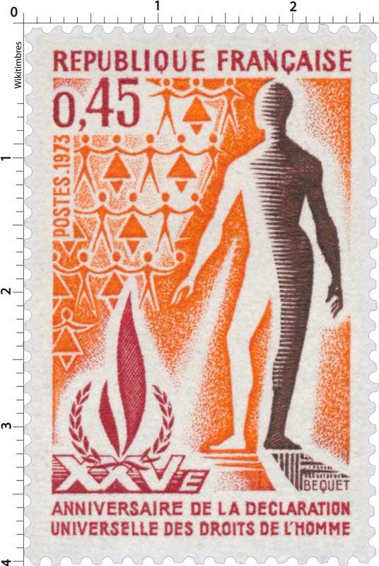 1973 XXV E ANNIVERSAIRE DE LA DÉCLARATION UNIVERSELLES DES DROITS DE L'HOMME