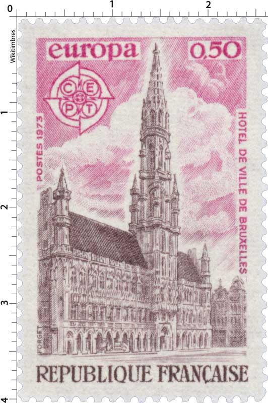 1973 Europa CEPT HÔTEL DE VILLE DE BRUXELLES