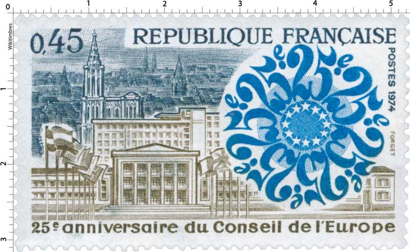 1974 25e anniversaire du Conseil de l'Europe