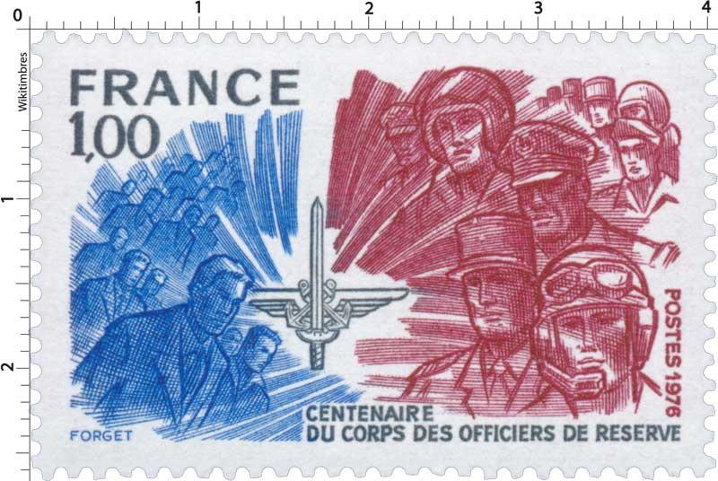 1976 CENTENAIRE DU CORPS DES OFFICIERS DE RÉSERVE