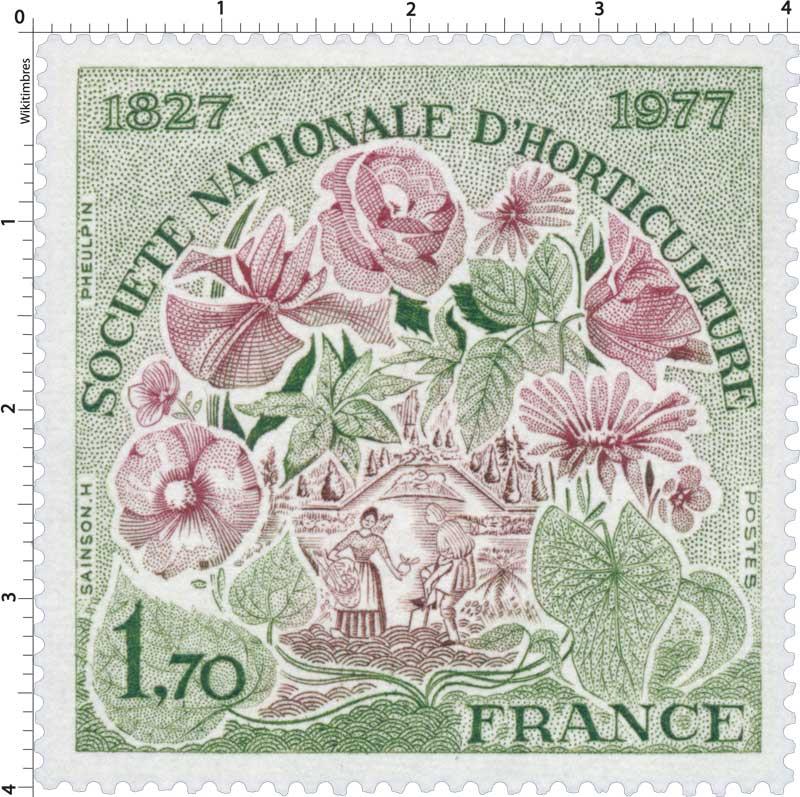 SOCIÉTÉ NATIONALE D'HORTICULTURE 1827-1977