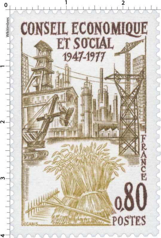 CONSEIL ÉCONOMIQUE ET SOCIAL 1947-1977