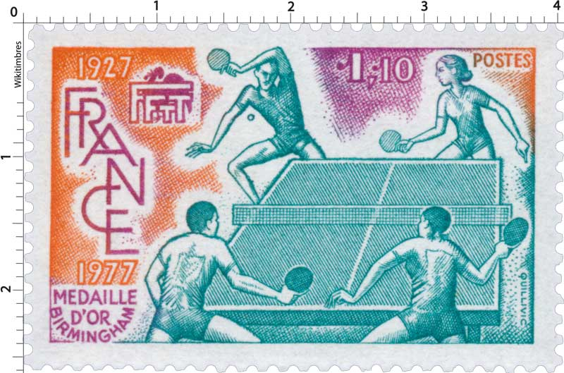 FFTT MÉDAILLE D'OR BIRMINGHAM 1927-1977