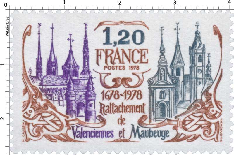 1978 Rattachement de Valenciennes et Maubeuge 1678-1978