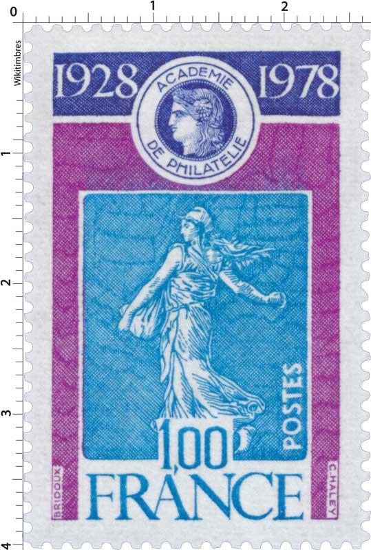 ACADÉMIE DE PHILATÉLIE 1928 1978