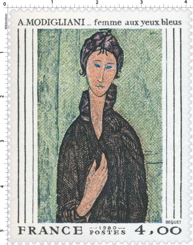 1980 A. MODIGLIANI _ femme aux yeux bleus
