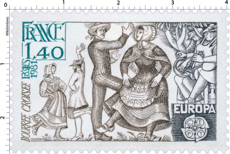1981 EUROPA CEPT BOURRÉE CROISÉE