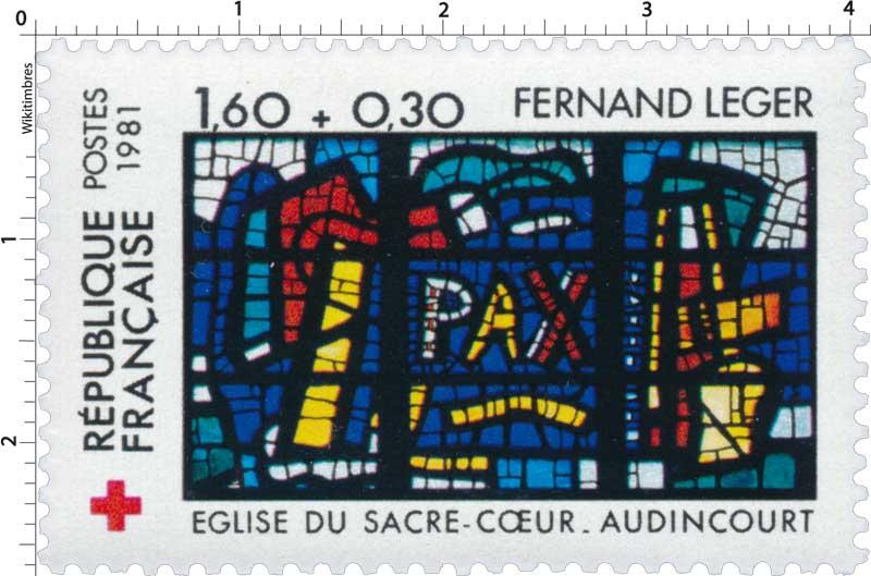 1981 FERNAND LEGER ÉGLISE DU SACRE-CŒUR-AUDINCOURT