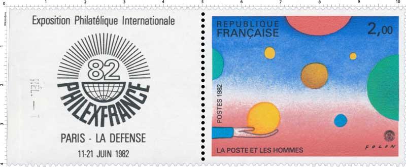1982 LA POSTE ET LES HOMMES FOLON