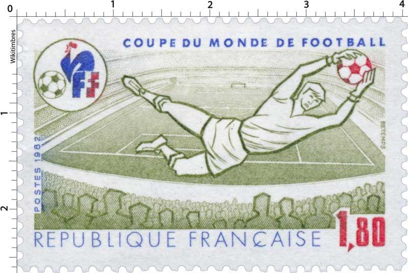 Timbre 1982 coupe du monde de football wikitimbres - Coupe du monde france allemagne 1982 ...