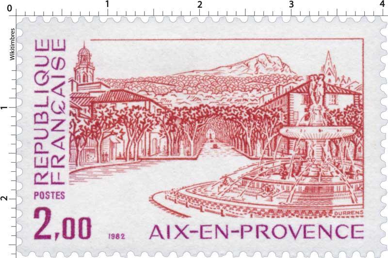 Timbre 1982 aix en provence wikitimbres - Bureau de poste la rotonde aix en provence ...
