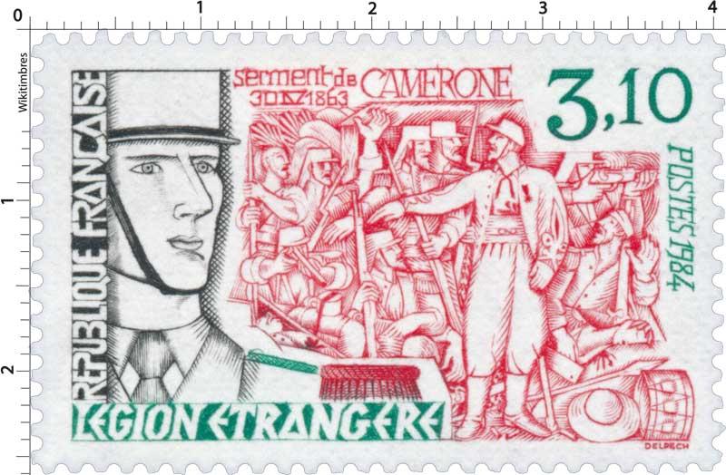 1984 LÉGION ÉTRANGÈRE serment de Camerone 30 IV 1863