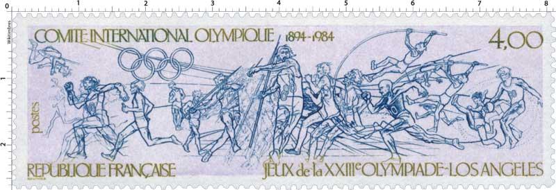 COMITE INTERNATIONALE OLYMPIQUE 1894-1984 JEUX de la XXIIIe OLYMPIADE - LOS ANGELES