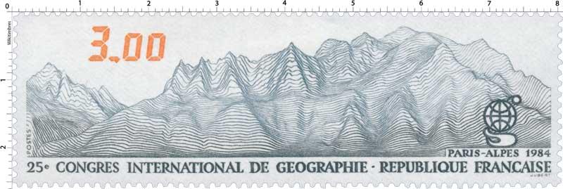 1984 25e CONGRÈS INTERNATIONAL DE GÉOGRAPHIE PARIS-ALPES