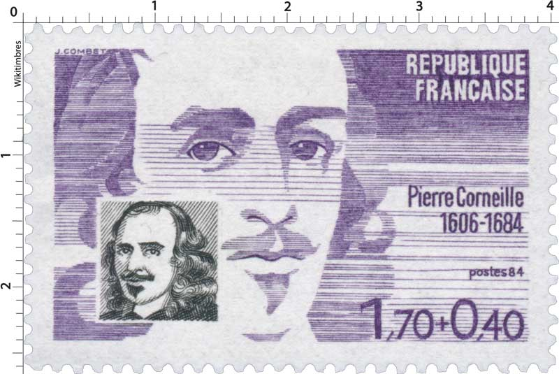 Timbre : 84 Pierre Corneille 1606-1684 | WikiTimbres