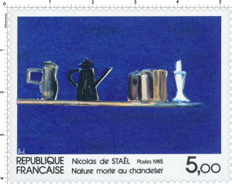 1985 Nicolas de STAËL Nature morte au chandelier