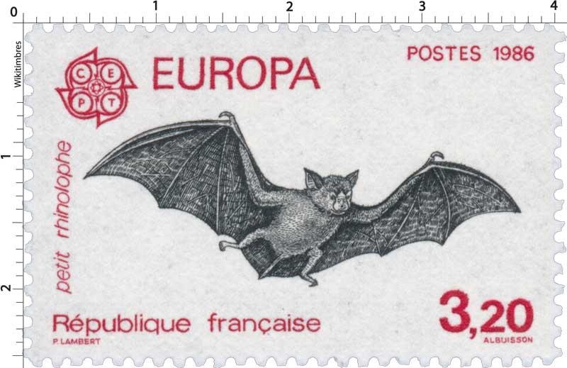1986 EUROPA CEPT petit rhinolophe