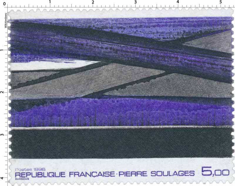 Timbre : 1986 PIERRE SOULAGES | WikiTimbres